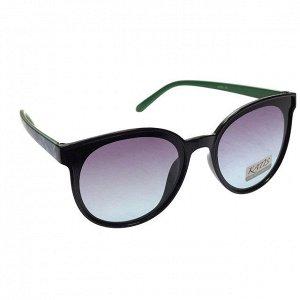 Стильные женские очки Danel вайфареры в чёрной оправе с принтом на дужках.