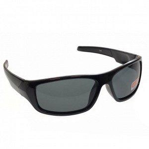 Стильные мужские очки Treo в чёрной оправе с чёрными линзами.