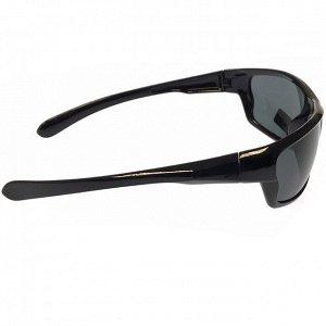 Стильные мужские очки Rain в чёрной оправе с чёрными линзами.