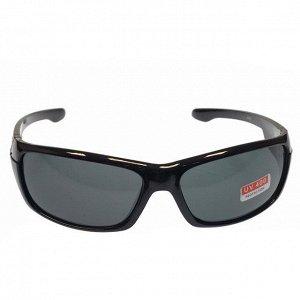 Стильные мужские очки Open в чёрной оправе с чёрными линзами.