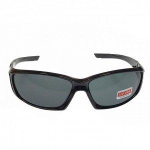Стильные мужские очки Scemka в чёрной оправе с чёрными линзами.