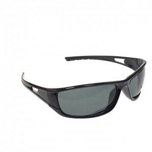 См. описание. Стильные мужские очки Ekzo в чёрной оправе с чёрными линзами.