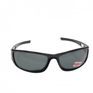 Стильные мужские очки Ekzo в чёрной оправе с чёрными линзами.