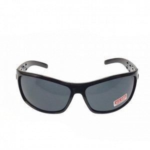 Стильные мужские очки Krion в чёрной оправе с чёрными линзами.