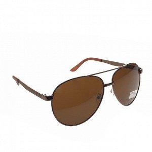 Стильные мужские очки-капли Uomo кофейного цвета.