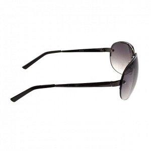 Стильные мужские очки-капли Kalipso в тёмной оправе с полузатенёнными линзами.