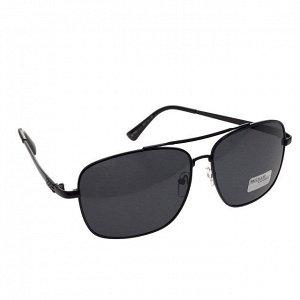 Классические мужские очки Mister в чёрной оправе с чёрными линзами.