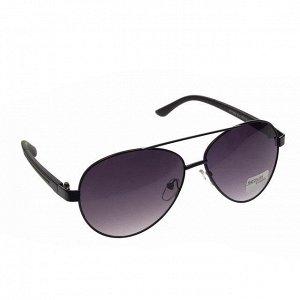 Стильные мужские очки-капли Alan в чёрной оправе с затемнёнными линзами.