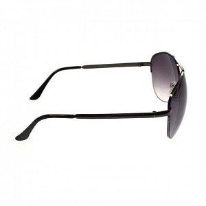 Стильные мужские очки-капли Kristal в тёмной оправе с полузатенёнными линзами.