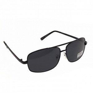 Классические мужские очки Real в чёрной оправе с чёрными линзами.