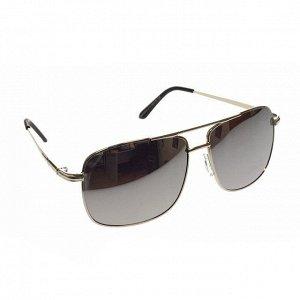Классические мужские очки Mihael в серебристой оправе с зеркально-серебристыми линзами.