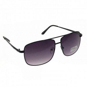 Классические мужские очки Mihael в чёрной оправе с затемнёнными линзами.