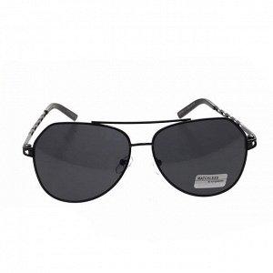 Стильные мужские очки-капли Marsel в чёрной оправе с чёрными линзами.