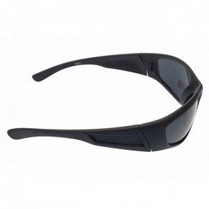 Стильные мужские очки Bagardy в чёрной матовой оправе с чёрными линзами.