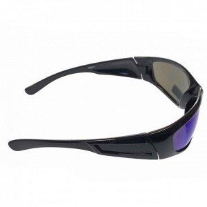 Стильные мужские очки Bagardy в чёрной оправе с синими линзами.