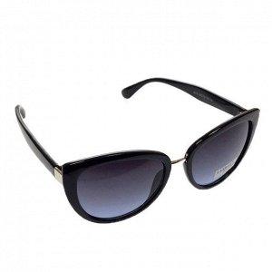 Стильные женские очки вайфареры Ritmo чёрного цвета с чёрными линзами.