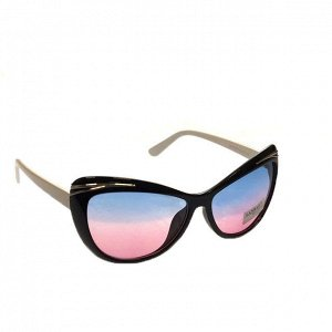 Стильные женские очки вайфареры Cler_Milan с белыми дужками.