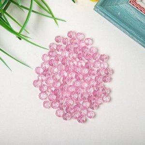 """Бусины акрил """"Круглые"""" 8 мм, 25 гр. розовый"""