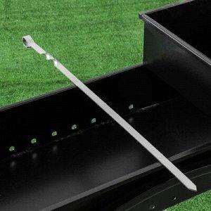 Шампур прямой , для люля кебаб, 65 см х 1,5 см, сталь - 2,5 мм