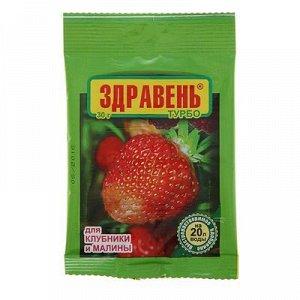 Удобрение Здравень турбо для клубники и малины, пакет, 30 г