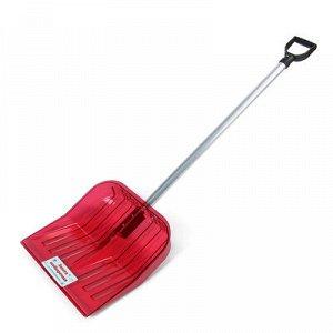 Лопата 430*420 из поликарб. с черенком , красный
