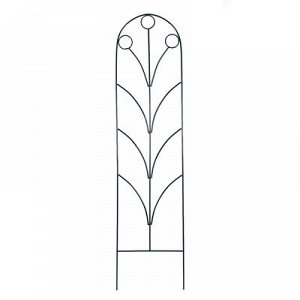 Шпалера, 194 ? 47 ? 1 см, металл, зелёная, «Калинка»