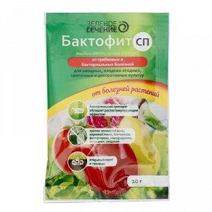 """Бактофит СП, от болезней растений """"Зелёное сечение"""", 10 г"""