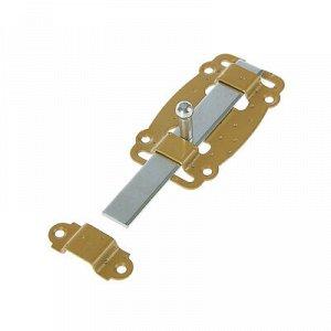 Задвижка дверная ЗД-100-Пл-SL, цвет бронзовый металлик/цинк