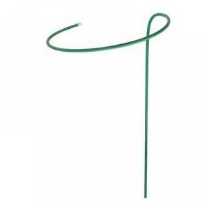Кустодержатель для цветов, d = 40 см, h = 80 см, ножка d = 1 см, металл, зелёный