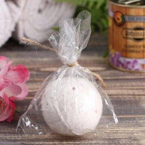 Шипучая бомбочка в банке, персидская соль, персик