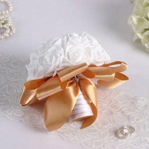 Букет-дублер для невесты из латексных цветков, бело-шоколадный