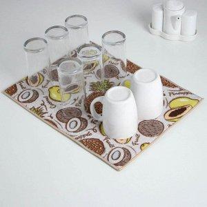 Салфетка для сушки посуды Доляна «Фрукты», 30?40 см, микрофибра