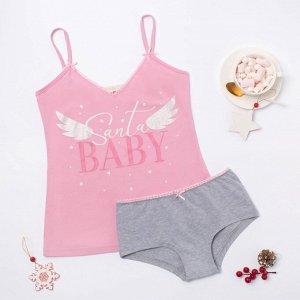 Пижама Santa Baby Цвет: Розовый, Серый. Производитель: KAFTAN