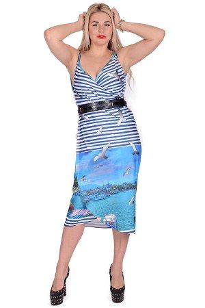 Пляжная туника Gisselle Цвет Голубой.