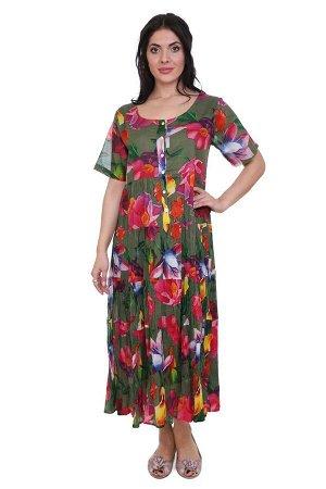 Платье Terra Цвет: Зеленый,Мультиколор. Производитель: Ганг