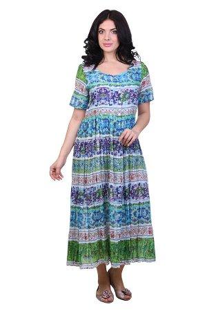 Платье Kisha Цвет: Зеленый,Мультиколор. Производитель: Ганг