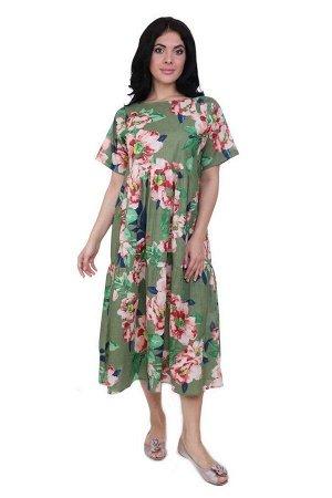 Платье Aden Цвет: Зеленый,Мультиколор. Производитель: Ганг