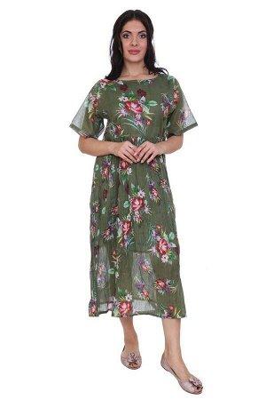 Платье Adison Цвет: Зеленый,Мультиколор. Производитель: Ганг