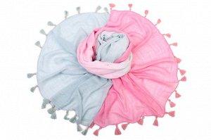 Накидка-палантин Missie Цвет: Розовый, Бирюзовый (100х180 см). Производитель: Ганг
