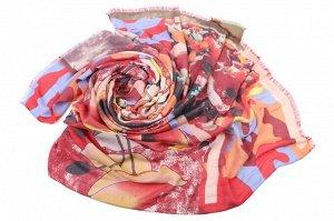 Накидка-палантин Alger Цвет: Оранжевый, Красный, Голубой (100х180 см). Производитель: Ганг