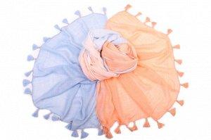 Накидка-палантин Merideth Цвет: Белый, Голубой, Оранжевый (100х180 см). Производитель: Ганг