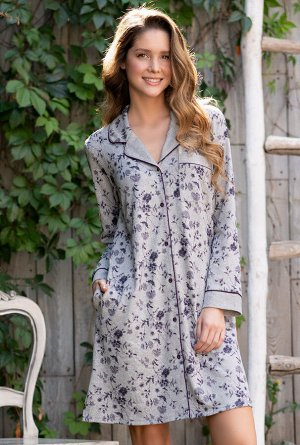 Домашний халат Ana Цвет: Серый Меланж. Производитель: Mia-Mella