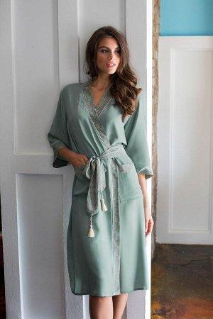 Домашний халат Olivia Цвет: Оливковый. Производитель: Mia-Mia