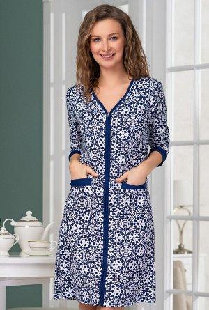 Домашний халат Petite Цвет: Темно-Синий. Производитель: Mia-Mella