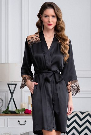 Домашний халат Yaritza Цвет: Черный. Производитель: Mia-Amore