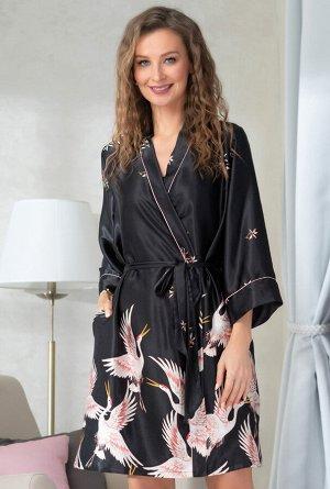Домашний халат Tamia Цвет: Черный. Производитель: Mia-Amore
