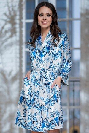 Домашний халат Simona Цвет: Молочный. Производитель: Mia-Amore