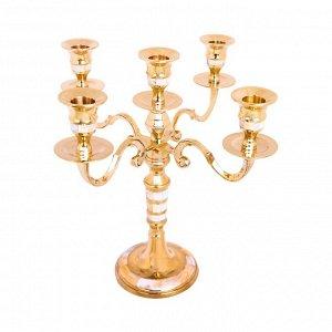 Подсвечник на 5 свечей Jessie Цвет Золотой (25х25х30 см)