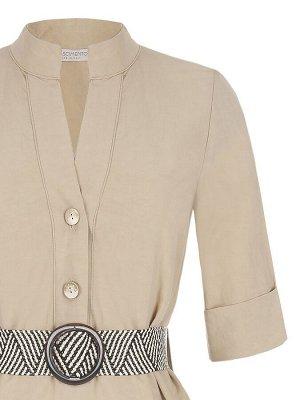 Платье Rinas.cimento Цвет: Beige  Main part:65%Viscose-35%Flax