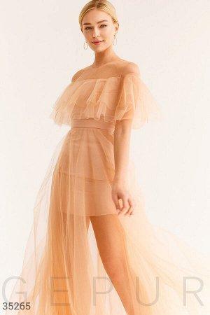 Изящное платье с двуслойной юбкой